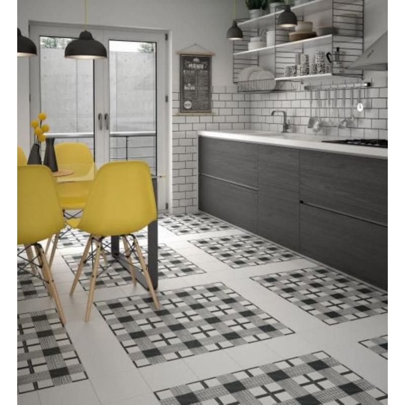 sol-cuisine-carrelage-caprice-deco-cloth-20x20-cm-motif-noir-blanc