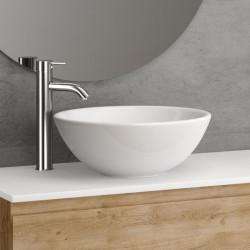 vasque-ceramique-ronde-bol-a-poser-austin-blanche-diam-40-cm-posee-sur-un-meuble-bois