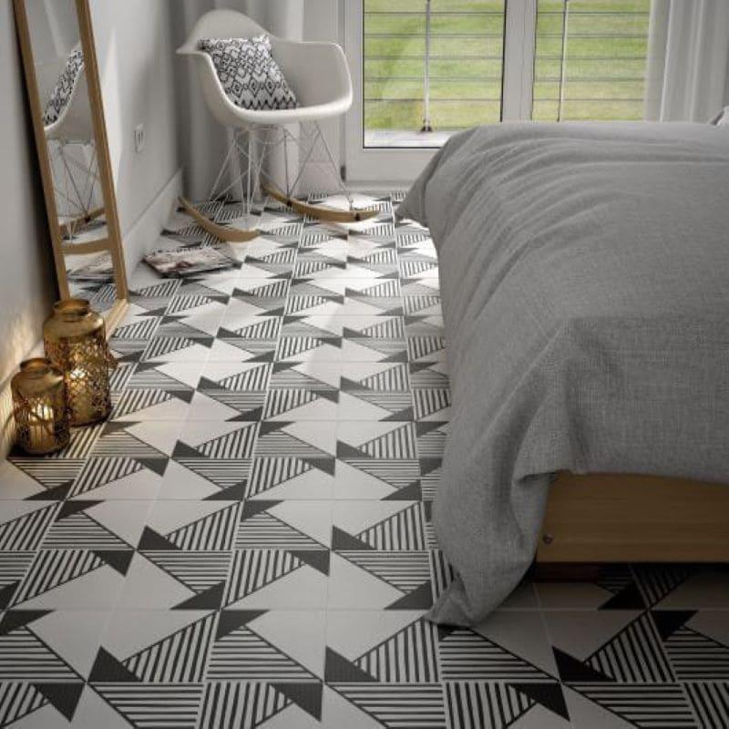 sol-chambre-carrelage-caprice-deco-origami-20x20-cm-noir-blanc-effet-carreau-de-ciment