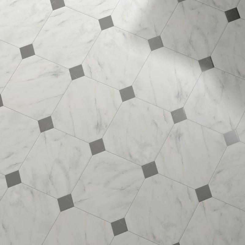 carrelage-octogonal-marbre-blanc-a-cabochons-20x20-octagon-marmol-blanco