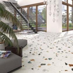 carrelage-sol-sejour-moderne-aspect-granito-terrazzo-80x80-Stracciatella-Nacar