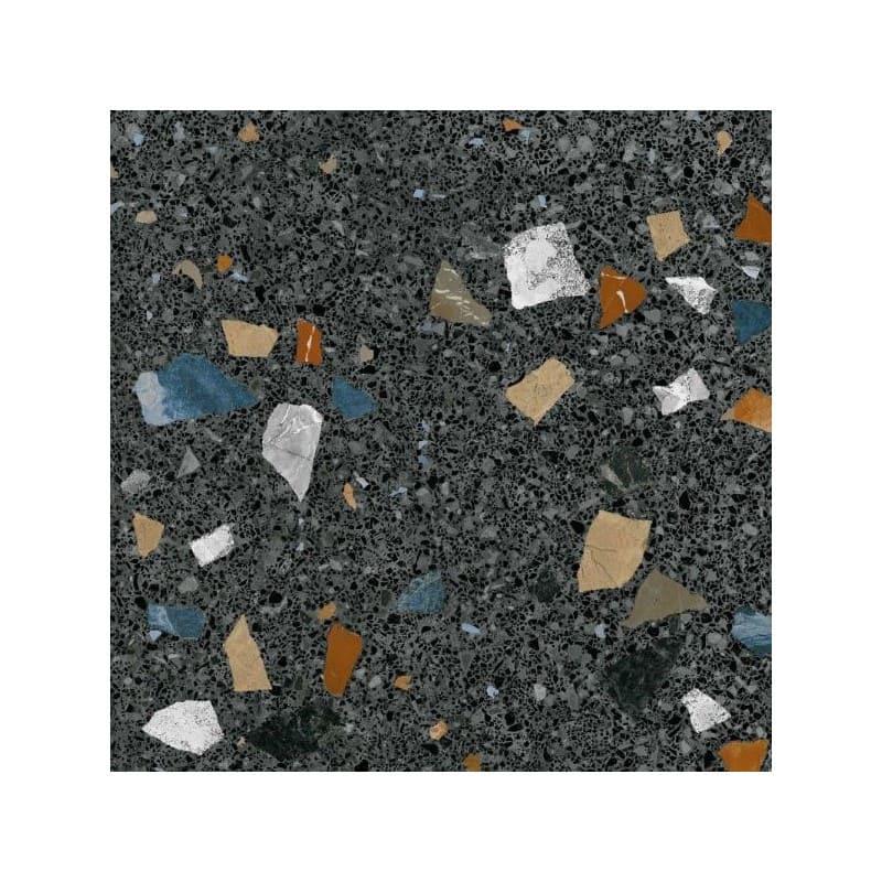 carreau-effet-terrazzo-60x60-fond-noir-tesselle-marron-brun-bleu-stracciatella-grafito-60x60