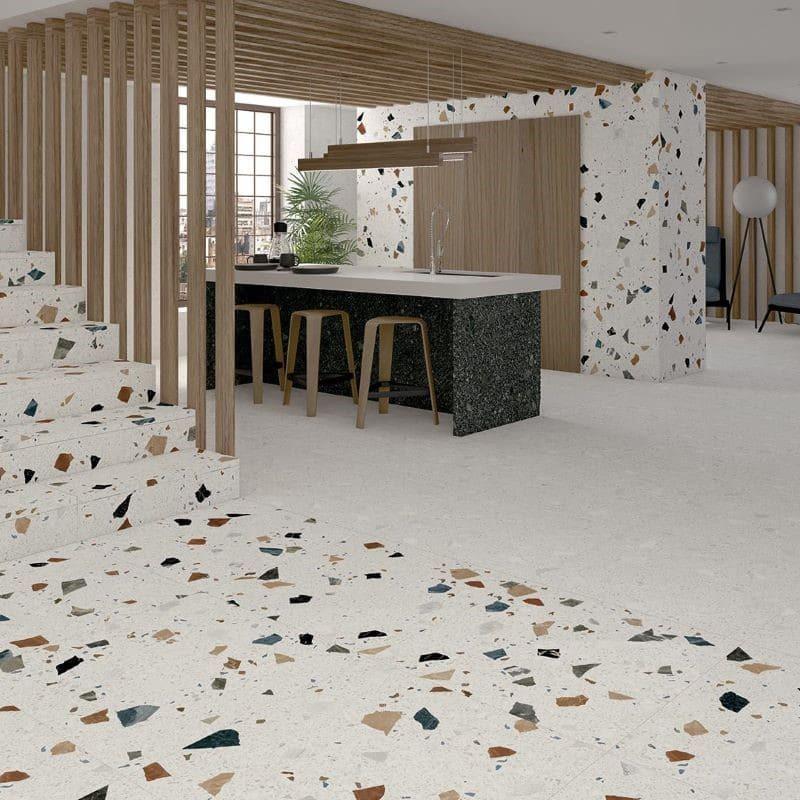 carreau-120x120-effet-terrazzo-Stracciatella-nacar-mat-sol-sejour-cuisine