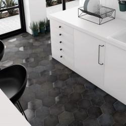 sol-cuisine-carrelage-grès-hexagonal-heritage-carbon-175x200-noir
