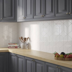 credence-cuisine-carrelage-losange-rhombus-wall-white-blanc-brillant152x263-mm