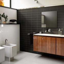 Faience-evolution-noire-mate-10x40-mur-derriere-meuble-de-salle-de-bains