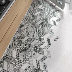 sol-cuisine-chevron-carrelage-blanc-patchwork-b-&-w-90x205-mm