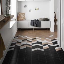 sol-entrée-carrelage-chevron-noir-blanc-bois-90x205-mm