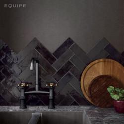 zelliges-noir -La-Riviera-65x200-tourmaline-crédence-de-cuisine-pose-chevron