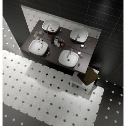 carrelage-octogonal-marbre-noir-a-cabochons-20x20-octagon-marmol-blanco-sol-salle-de-bain