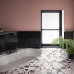 sol-salle-de-bains-carrelage-tomette-bardiglio-hexagone-marbre decor-geo-175x200-mat