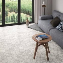 Carrelage-sol-sejour-moderne-tomette-bardiglio hexagone-marbre gris-light-175x200-mat