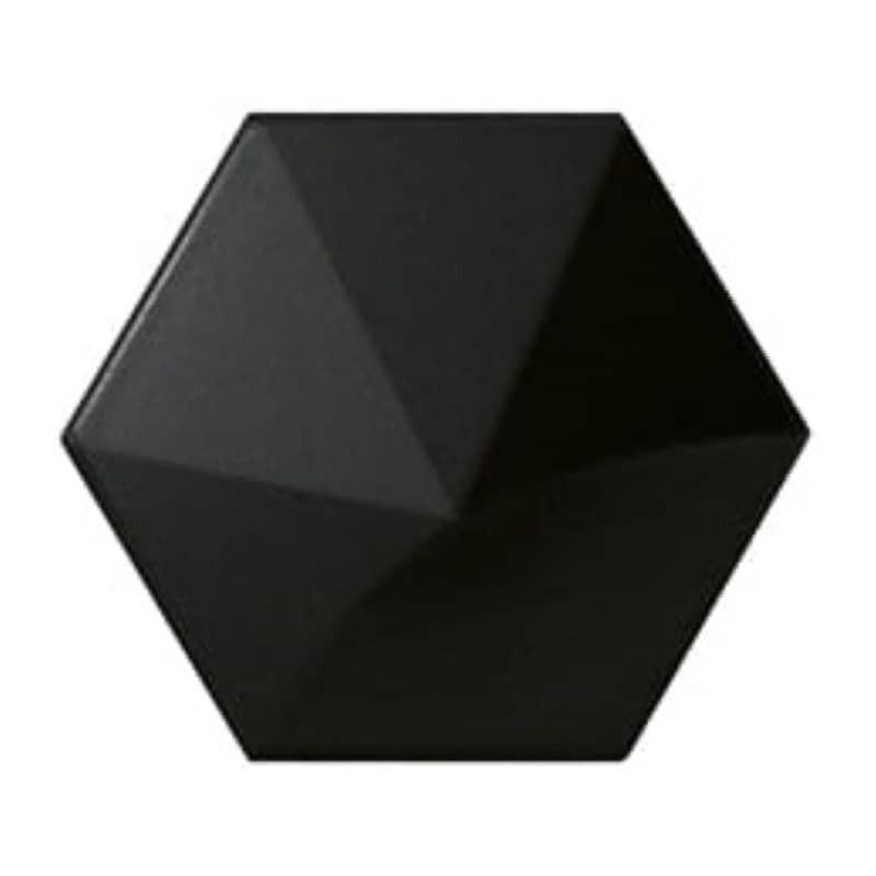 carrelage-hexagonal-noir-mat-relief-3D-magical3-black-mat-108x124-oberland