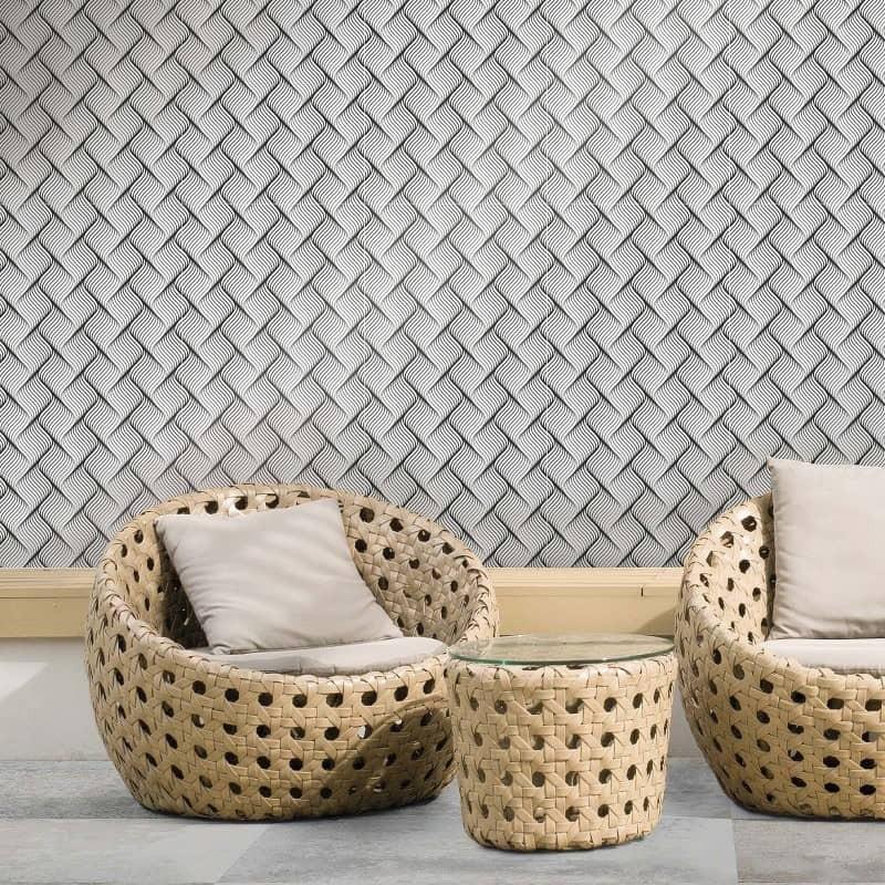 carreau-en-gres-cerame-au mur-d-une-terrasse-exterieure-491x982-effet-3D-canage-noir-et-blanc-deco-black-&-white-2