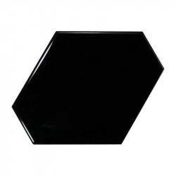 Faïence Benzene noir 10,8x12,4 brillant