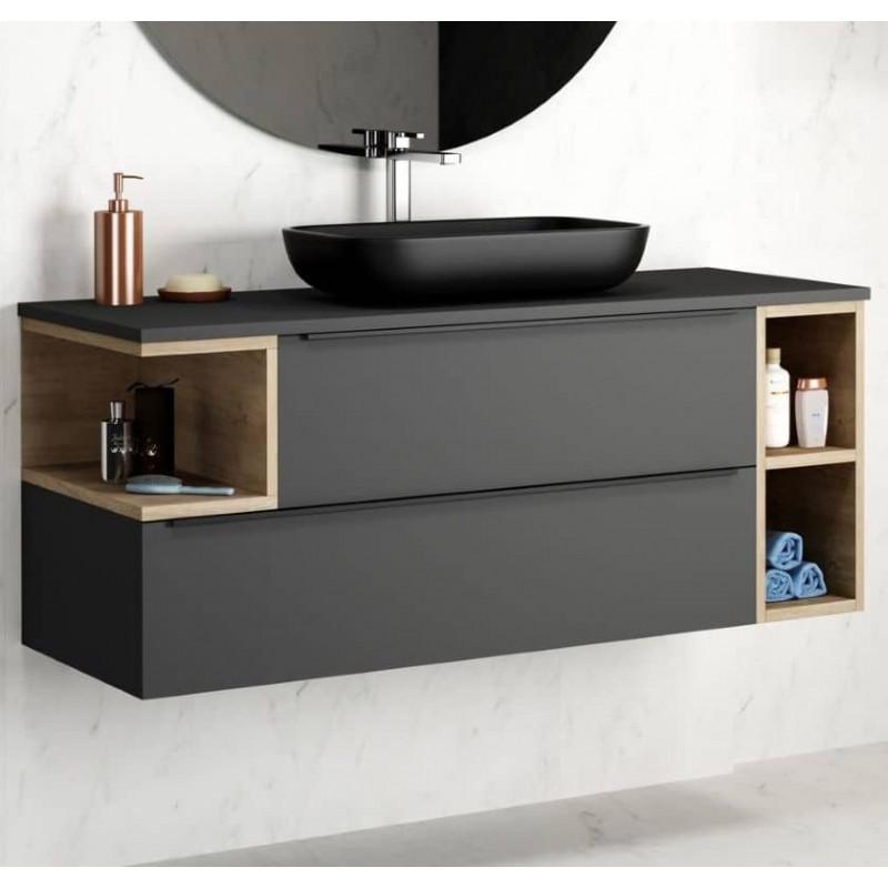 meuble-anthracite-et-chene-avec-vasque-a-poser-rectangulaire-noire-en-resine