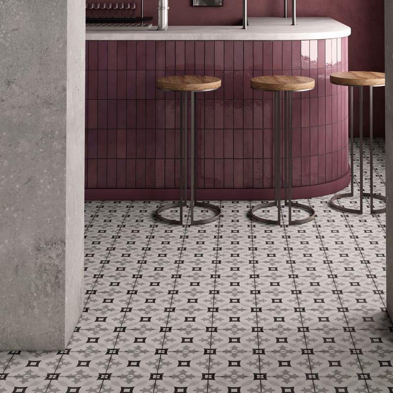 sol-Carrelage-effet-carreau-de-ciment-decor-art-nouveau-Karlsplatz-grey-20x20-cm