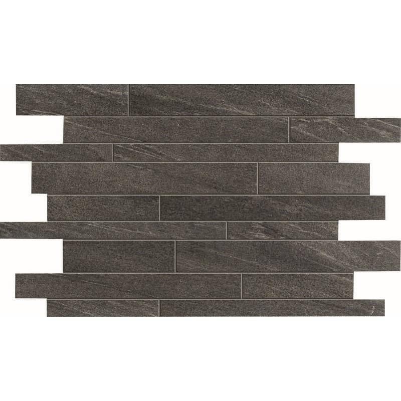 mosaique-imitation-ardoise-noire-forme-barette-decalée-emboitable-comfort-s-stick-smoke-plaque-de-296x434-mm