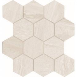 carrelage-hexagonal-aspect-pierre-blanche-nuancee-assemblage-sur trame-35x37-cm-comfort-s-white