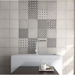 mur-salle-de-bains-carreau-de-ciment-alameda-grey-art-nouveau-20x20-cm-patchwork-2-motifs