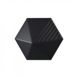 carrelage-3D-hexagonal-noir-mat-relief-grahique-Umbrella-124x107