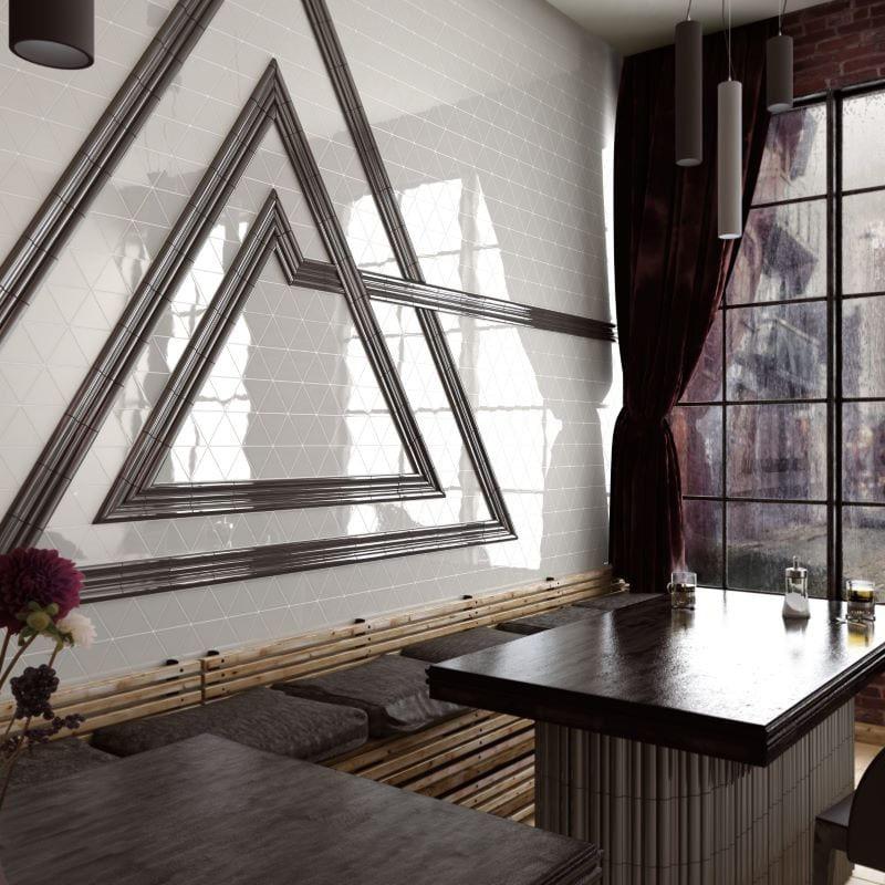 carrelage-mural-triangle-Scale-Triangolo-blanc-brillant-108x124-au-mur-d-un-restaurant