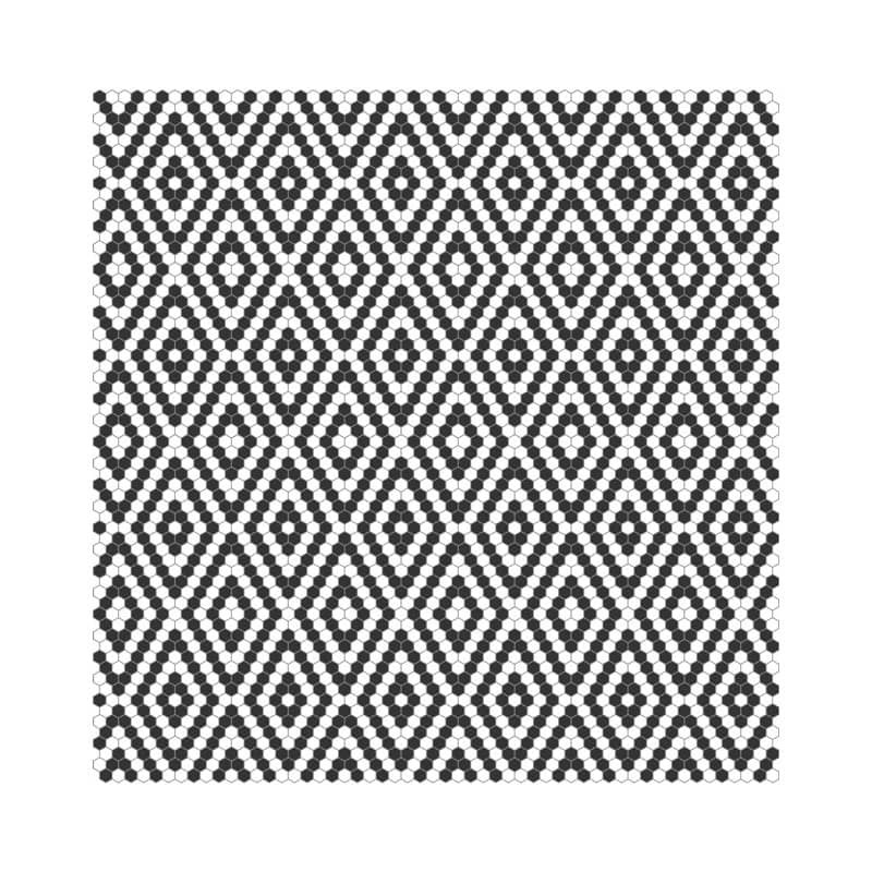 mini-tomette-hexagonale-decor-noir-et-blanc-flamenco