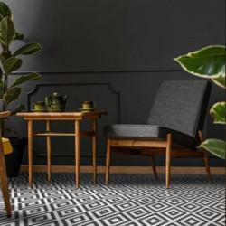 sol-sejour-mosaique-hexagonale-decor-losange-noir-et-blanc-flamenco-black-&-white