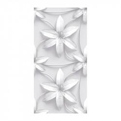 Carrelage effet 3D floral 49.1x98.2 déco 3