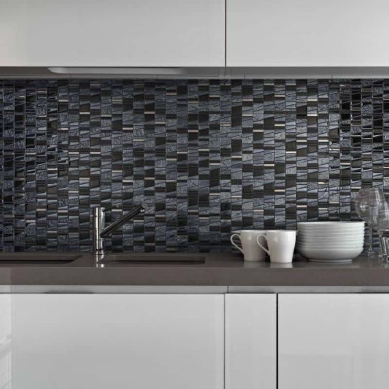 credence-cuisine-mosaique-verre-noire-differente-structure-trame-30x30-Asi-negro