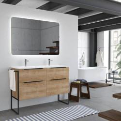 meuble-style-industriel-chene-naturel-pied-metal-noir-et-plan-de-vasque-ceramique-double-Galsaky-industrial
