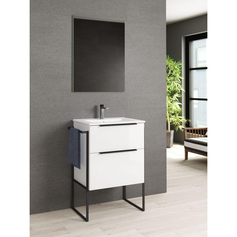 meuble-60cm-blanc-brillant-avec-pietement-metal-noir-plan-de-vasque-ceramique-blanc-et-miroir-60x80-meuble-Galaxy-60