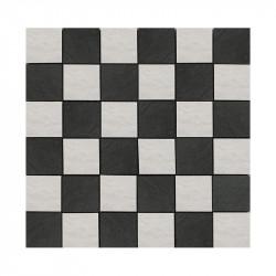 carrelage-mosaique-5x5-damier-noir-et-blanc-aspect-pierre-Filita-black-white-trame-de-30x30