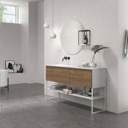 Carrelage-terrazzo-anthracite-74.7x74.7-Odin-Deep-au-sol-salle-de-bains