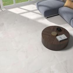 carrelage-aspect-marbre-blanc-49.1x98.2-Olimpia-blanco-au sol-d-un-sejour-moderne