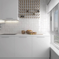 carrelage-esprit zellige-manacor-white-10x10-en-credence-de-cuisine-moderne