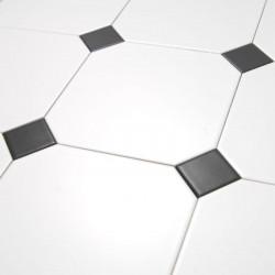 sol-carreau-20x20-octogone-blanc-mat-avec-coin-coupe-et-cabochon-noir-mat