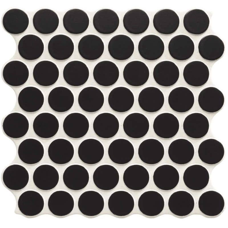 Carrelage-aspect-mosaique-ronde-309x309-mm-circle-black
