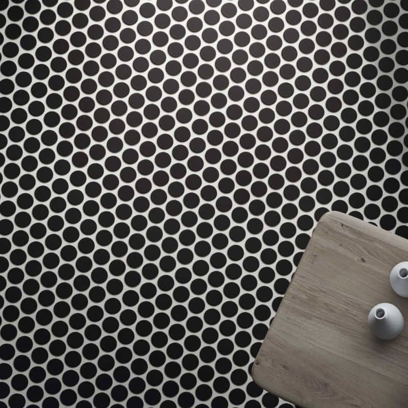 Sol-salle-de-bains-Carrelage-aspect-mosaique-ronde-309x309-mm-circle-black