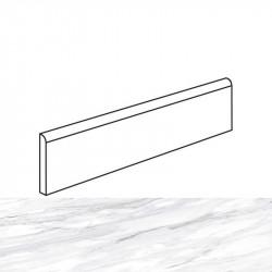 Plinthe aspect marbre poli blanc 7.6x98.2 North white
