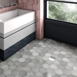 sol-cuisine-carrelage-hexagonal-forme-tomette-nuance-grise-17.5x20-cm-Heritage-Shadow