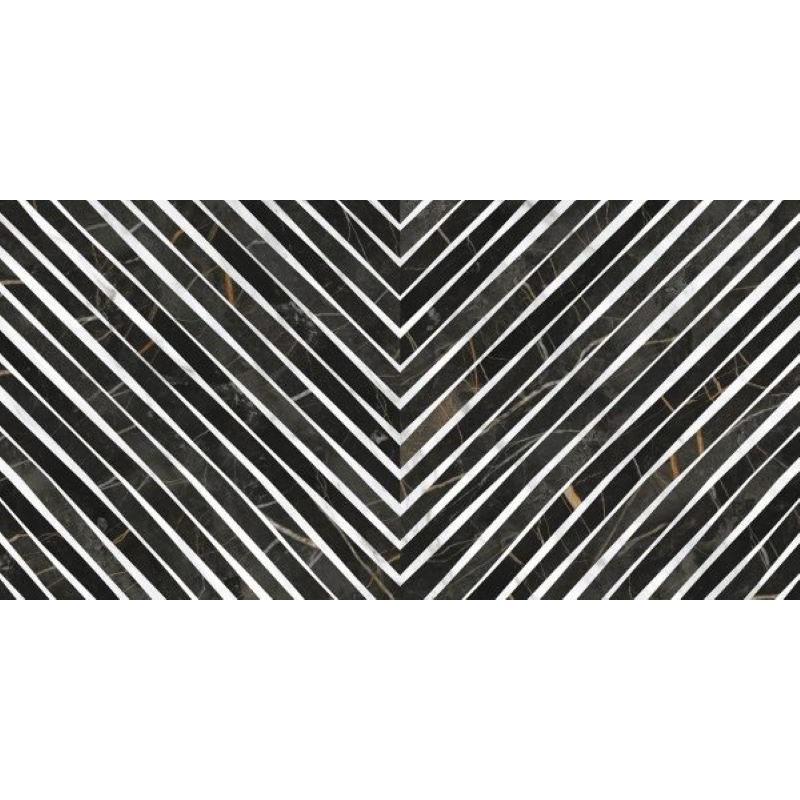 carrelage-effet-marbre-noir-decor-geometrique-Deco-Nuit-gloss-49x98-cm