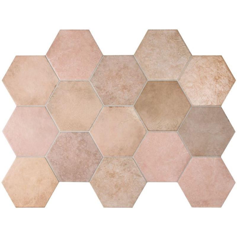 carrelage-hexagonal-tomette-heritage-rose-17x20-cm