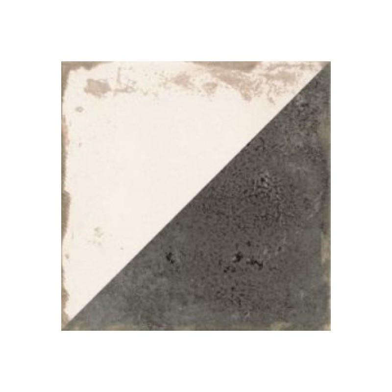 carreau-de-ciment-imitation-motif-triangle-noir-et-blanc-antique-diagonal-33x33-cm