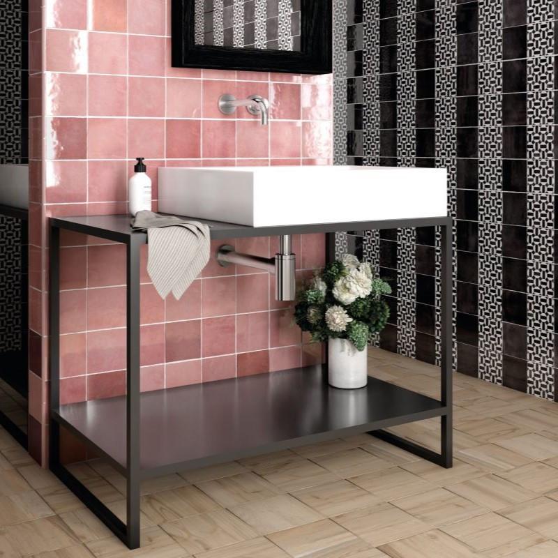 carrelage-salle-de-bain-aspect-zellige-artisan-rose-mallow-132x132-