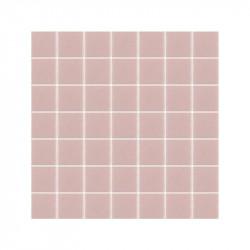 carrelage-mosaique-5x5-rose-mat-Malva-sur-filet-de-30x30-pour-salle-de-bains