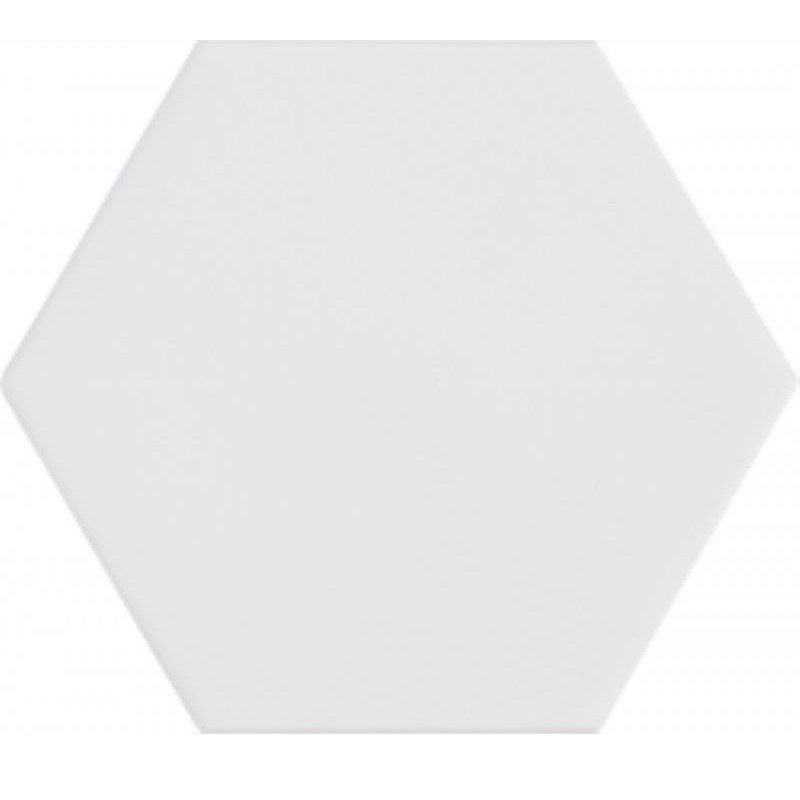 carrelage-hexagonal-blanc-kromatika-white-blanc-mat-116x101-mm-pour sol-et-mur