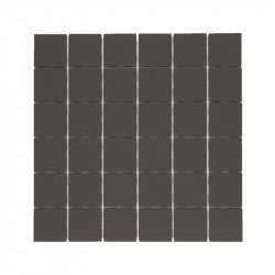 Carrelage-5x5-CE-SI-cerame-pleine-masse-5x5-carbonio-noir-mat-sur trame-de-30x30