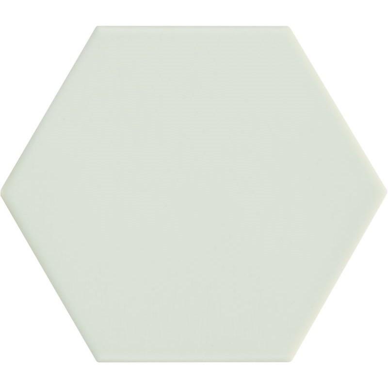 Carrelage-hexagonal-vert-menthe-116x101-Kromatika-mint-pour-sol-et-mur