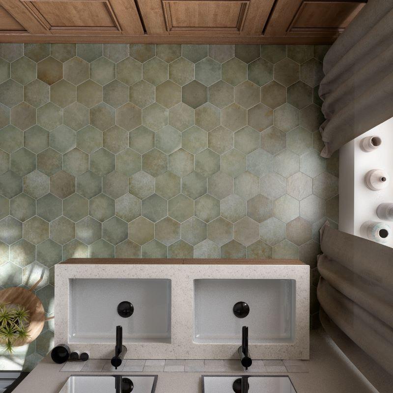 sol-salle-de-bain-carrelage-hexagonal-tomette-heritage-vert-jungle-175x200